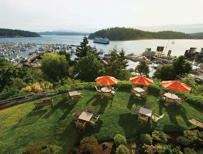 There is so much to explore on San Juan Island that you'll want to create an itinerary, even if you're on island time.  Start with  viewing the ferry arrivals from the terrace at Friday Harbor House.