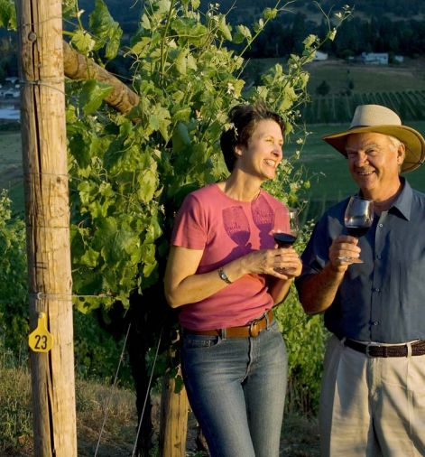 Abacela founder Earl Jones with wife Hilda. No one else in the Northwest wine industry has done more on behalf of a single grape than Jones has with the Spanish variety Tempranillo.