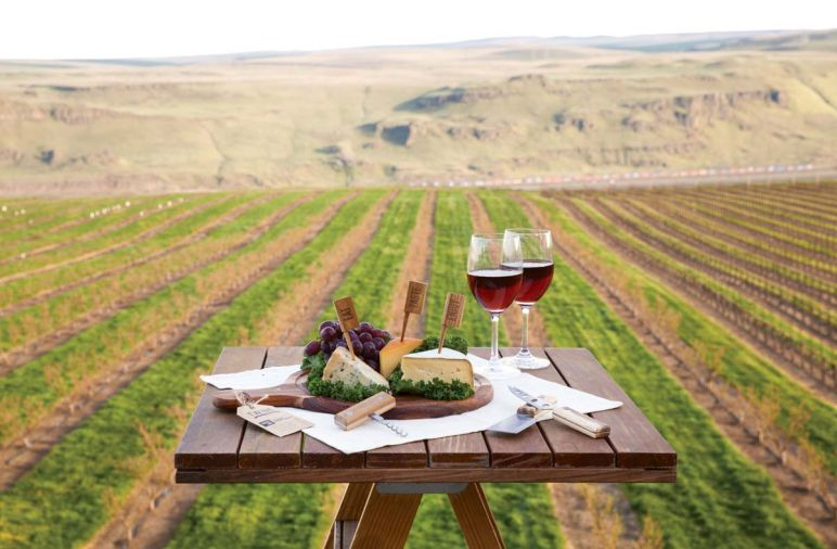 Maryhill Winery is a lovely site to enjoy its 2013 Painted Hills Vineyard Tempranillo.