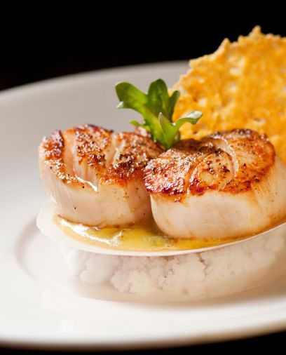 Seared Diver Scallops, a signature dish at Alchemy Restaurant & Bar 