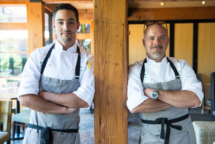 Barking Frog Sous Chef Chris Smith and Executive Chef Bobby Moore.