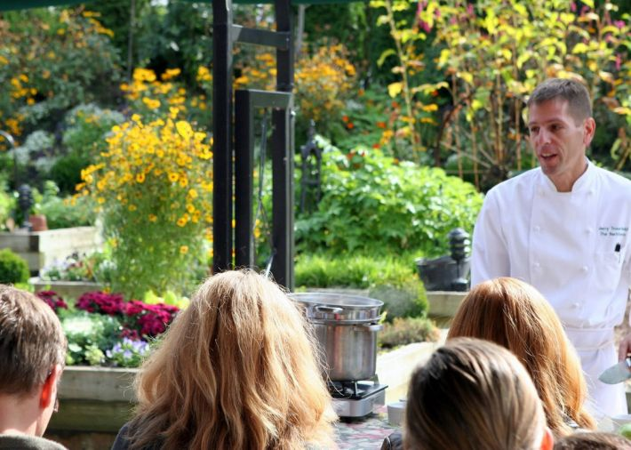 21 Acres, a nonprofit organization dedicated to agricultural education, regularly hosts chef-driven dinners, cooking classes, and other events.