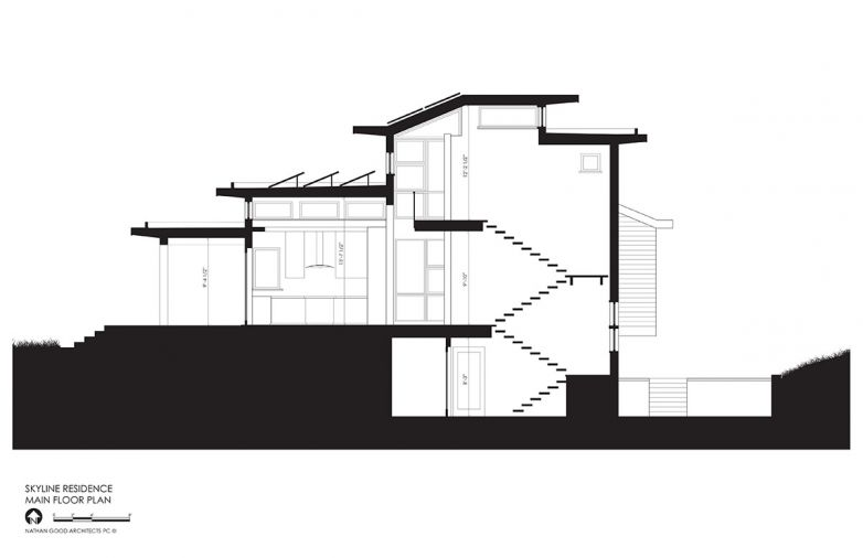 An earlier single-level layout made the home lose cohesion, with bedrooms too remote from the core of the home. To keep the family connected, the architects opted for a two-story bedroom wing adjacent to the kitchen and great room. On the bottom floor, a daylight basement houses recreation amenities and a walk-out patio with a hot tub.