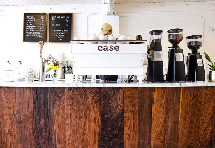 Sip on fresh roasted coffee from Case Coffee Roasters before your stroll in Lithia Park.