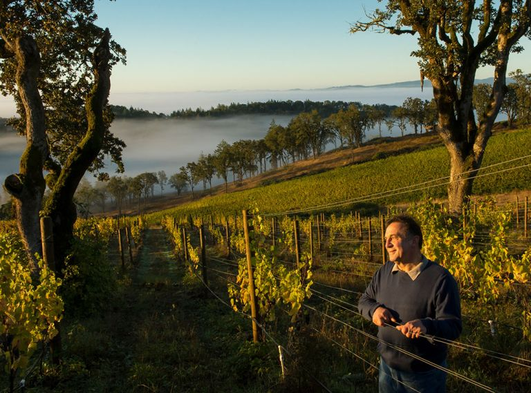 Moe Momtazi, owner of Maysara Winery and Momtazi Vineyard in McMinnville. Photo © Andrea Johnson