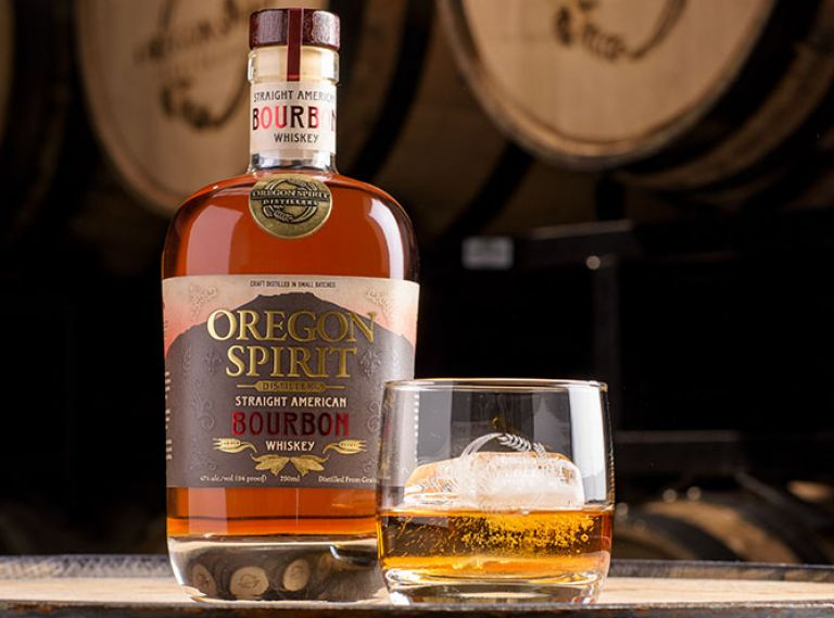 Oregon Spirit Distillers in Bend, Oregon, distills rye, bourbon, and wheat whiskeys.