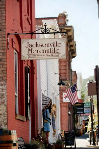 Jacksonville Mercantile is a must for foodies in search of the many acclaimed cheeses, meats and chocolates produced in the region.