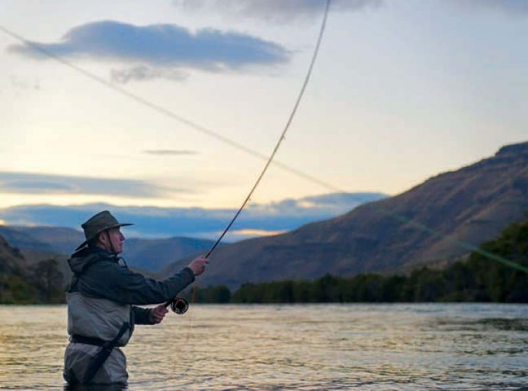 Don Hull Spey casting for fall steelhead on the lower Deschutes.