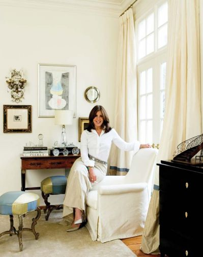 Atlanta-based interior designer Suzanne Kasler is known for interiors that straddle that rare middle ground between sophisticate and ingénue. Her work has been featured in <em>Architectural Digest</em>, <em>Elle Décor</em>, <em>House Beautiful</em>, <em>House & Garden</em>, <em>Southern Accents</em>, <em>Traditional Home</em> and <em>Veranda</em>.