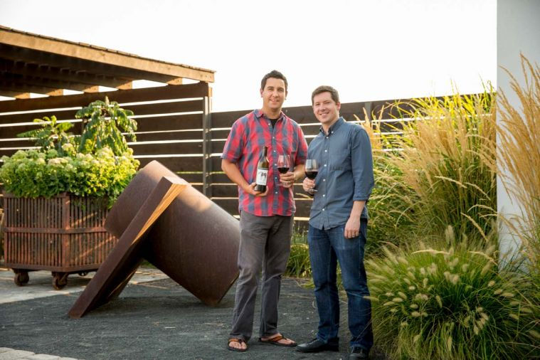 At Foundry Vineyards, the eclectic art gallery and tasting room, winemaker Justin Basel (left) and general manager Jay Anderson (right) craft art-inspired wines from estate vineyards planted in 1998.