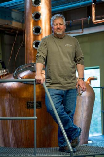 Distiller Keith Barnes, Bainbridge Organic Distillers, Washington's first maker of 100% USDA Certified Organic spirits.