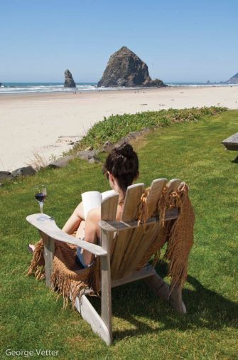 Whale watching or wine tasting? In Cannon Beach, visitors can enjoy both. Outdoor enthusiasts and foodies alike can all feast on the natural wonders here, whether it's a low-tide stroll in the tide pools at Haystack Rock, an afternoon glass of wine from a beachfront rental, or a bowl of Oregon clam chowder.