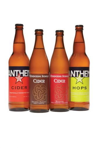 Try these ciders: [1] ANTHEM CIDER Made from a blend of dessert apples, Anthem's straight cider is an easy, everyday drinker with very light tannins, a sweet entry, and a tart, quenching finish. Price $5.99 [2] GOLDEN RUSSETT SINGLE VARIETAL This gold-colored cider is big and complex, with mild carbonation and a rich honey aroma. Sweet at first, Golden Russet Single Varietal finishes dry and nutty, almost like a very light sherry. Noticeable tannin structure makes this an easy swap for wine; it would be a great addition to the holiday table. Price $6.49 [3] WICKSON 2014 SINGLE VARIETAL CRAB APPLE Wickson 2014 is a single-varietal dry cider from a crab apple renowned for high levels of sugar and acidity. Its bracingly tart, lemon-like flavor begs to be paired with food, where it's an exceptional match for rich or oily fare. Price $6.49 [4] ANTHEM HOPS Anthem's straight cider, dry-hopped with Northwest-grown Cascades. Crisp, floral, and aromatic with just the slightest hint of hop bitterness, this cider is great on its own or paired with hearty fare like curry or burgers. Also available in a fresh hopped version in the fall. Price $5.99 Plan a visit to Wandering Aengus tasting room in Salem at 4050 Fairview Industrial Drive, where you can sample their standard lineup alongside one-offs and experimental batches that may never make it to bottles.
