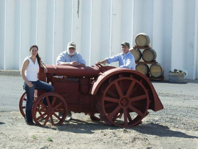 Megan, Jack and Greg Jones of Jones of Washington, a family winery in Central Washington.