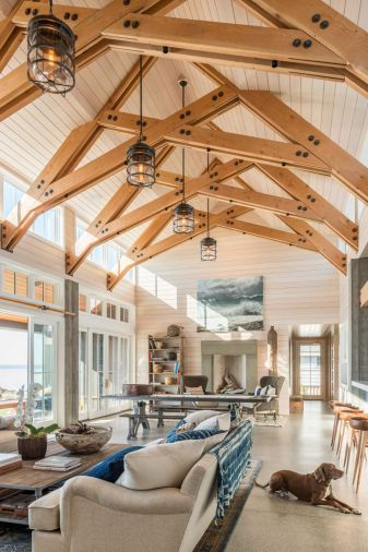 John loves how the exposed structural components of the